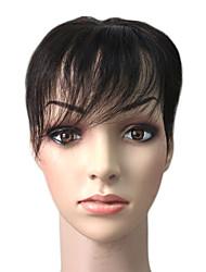 100% cheveux indiens meilleurs morceaux mono 5.5 pouces