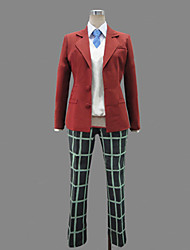 Inspirado por My Little Monster Haru Yoshida anime Cosplay Costumes Ternos de Cosplay / Uniformes Escolares Patchwork VermelhoManga