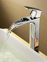 bestreuen ® von lightinthebox - centerset massivem Messing verchromt einzigen Handgriff Waschbecken Wasserhahn (groß)
