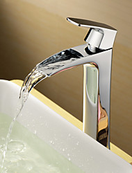 espolvorear ® by lightinthebox - Central de latón macizo cromado sola manija baño grifo del fregadero (de altura)