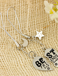 """""""Best Friends Forever"""" Keyring (Set of 4 Pairs)"""