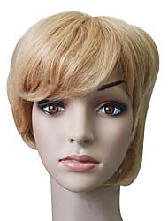 Capless 100% Human Hair Light Golden Brown Short Hair Wig