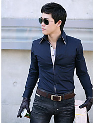 RR BUY Double Layer Like Collar Slim Shirt