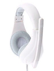 LPS-1520 Deep Bass Comfortable Design White Wired Stereo Music Headphone with Mic