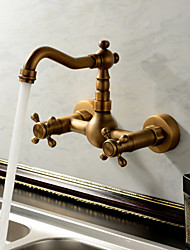 Sprinkle® Kitchen Faucets  ,  Antique / Traditional  with  Antique Brass Two Handles Two Holes  ,  Feature  for Waterfall