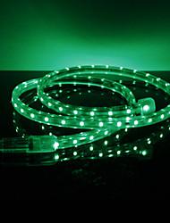 3.5W / M impermeable 3528 SMD LED Strip Green Light Lámpara (220V, seleccionable longitud)