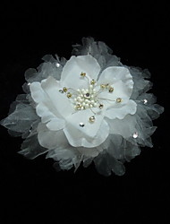 Women's Satin Rhinestone Tulle Headpiece-Wedding Special Occasion Casual Flowers