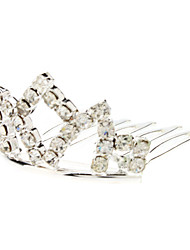 Small Size Diamond Silver Crown Hairpin for Pets