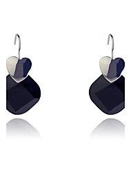 Drop Earrings Resin Fashion Heart White Black Jewelry Party Daily Casual 2pcs