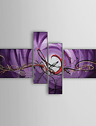 Hand-painted Oil Painting Abstract Set of 4 1302-AB0309
