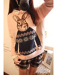 YiLianGe Lose akademischen Stil Round Neck Sweater
