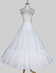 Slips A-Line Slip Ball Gown Slip Floor-length 3 Taffeta Satin White
