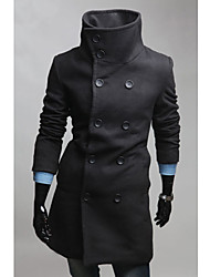 Men's Wool Blend Double Breasted Coat