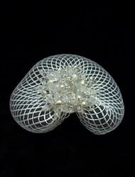 Women's Crystal/Tulle Headpiece - Wedding/Special Occasion/Casual Fascinators/Birdcage Veils