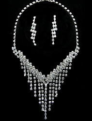 Lovely Alloy With Rhinestone Women's Jewelry Set Including Necklace,Earrings