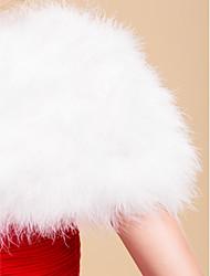 Short Sleeve Feather/ Fur/ Satin Wedding/ Party Evening Jacket/ Wrap Bolero Shrug