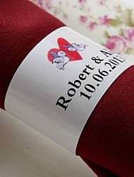 Personalized Paper Napkin Ring - Love Birds (Set of 50)