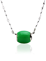 Women's Oval Emerald Gemstone Pendant(excl. Chain)