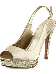 Bellissimi sandali in raso tacco a spillo con fibbia party / scarpe da sera