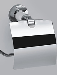 "Porte Papier Toilette Chrome Fixation Murale 145 x 135 x 75mm (5.70 x 5.31 x 2.95"") Laiton Contemporain"