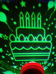 Birthday Cake Design LED Lamp (Color Changing, Built-in Botton Cell)
