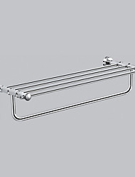 "Towel Bar Chrome Wall Mounted 630 x 230 x 130mm (24.8 x 9.05 x 5.11"") Brass Contemporary"