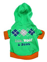 Pequeños Precios Hoodies Patrón de algodón para perros (XS-L)