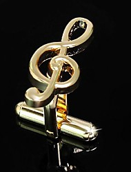 Gift Groomsman Gold Jumping Notes Cufflinks