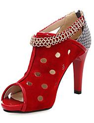 Suede peep stiletto talon orteil / Bottines Avec Hollow-Out Party / Evening Shoes (Plus de couleurs)