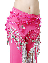 Performance Dancewear Chiffon with Coins Belly Dance Belt For Ladies