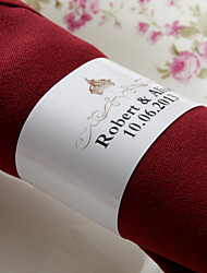Personalized Paper Napkin Ring - Crown (Set of 50)