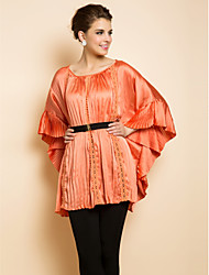 TS Pleats Lacing Hem Blouse