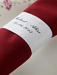 Personnalisé Rond de Serviette Papier - Design Rose (Lot de 50)