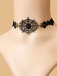 aspect gothique diable fraîche collier de dentelle