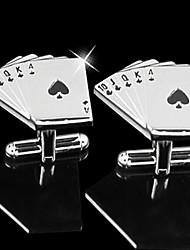 padrino de boda regalo de póquer bastante gemelos de diseño