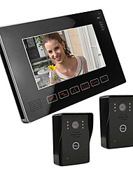 """9 """"Accueil pouces LCD Téléphone visuel de porte sonnette, avec enregistrement SD Picture Card (2 Caméra Pour 1 Moniteur)"""