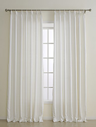 Two Panels European Contracted Fashion Off-white Solid Polyester Panel Curtains Drapes