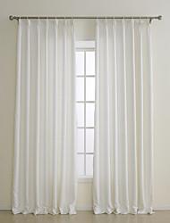 deux panneaux European Fashion contractée solide blanc cassé rideaux à panneaux en polyester opaques