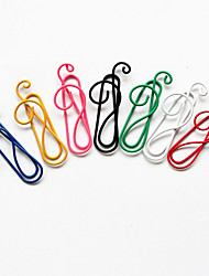 musical stile nota carta colorata clip (colore casuale, 10-pack)