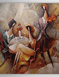 Pintado a mano Pintura al óleo abstracta personas 1303-AB0426