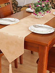 Traditional Piece Dye Jacquard Floral Polyester Table Runners