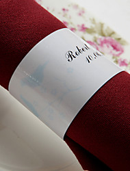 Personalized Paper Napkin Ring - Singing Birds (Set of 50)