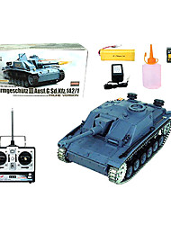 Tank YX 1:16 RC Car Gray Ready-To-Go Tank / Remote Controller/Transmitter / Battery Charger / User Manual / Battery For Car