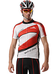 MYSENLAN Bike/Cycling Jersey / Tops Men's Short Sleeve Breathable / Quick Dry / Front Zipper / Wearable Polyester RedM / L / XL / XXL /