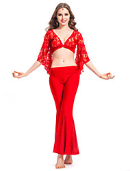 Dancewear Crystal Cotton With Lace Belly Dance Outfit for Ladies More Colors