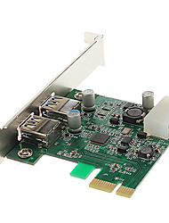 High Speed ​​USB 3.0 2 portas PCI-E