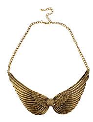 Круглой пряжкой Образцы Wings Сплав ожерелье