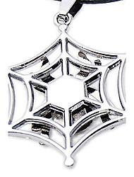 Titanium Aço Spider Web pingente Forma