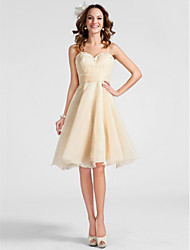 TS Couture Cocktail Party Homecoming Prom Dress - Short A-line Princess Sweetheart Spaghetti Straps Knee-length Organza withBeading