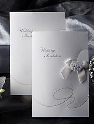 Cartes d'invitation Invitations de mariage Pli Parallèle Vertical Non personnalisés